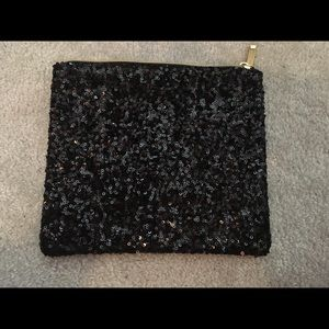Handbags - NWOT - Black Sequin clutch